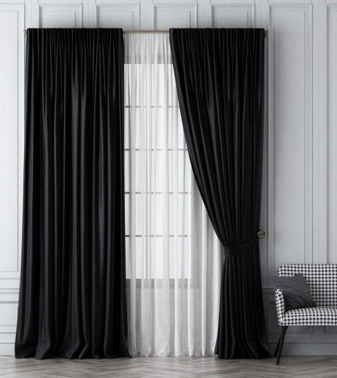 Комплект штор Шанти черный
