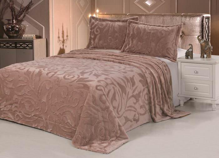 Покрывало из меха Vermont коричневато-розовый DCT100-9-240 покрывало karna покрывало evony цвет пудра 240х260 см