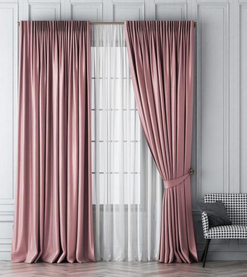 Комплект штор Шанти розовый