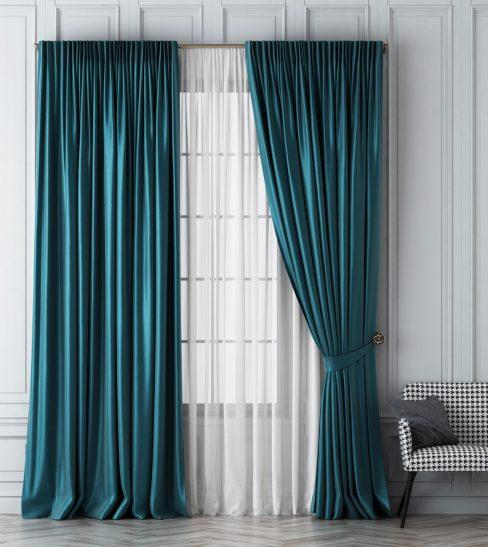 Комплект штор Шанти бирюзовый