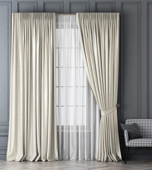 Комплект штор Шанти белый