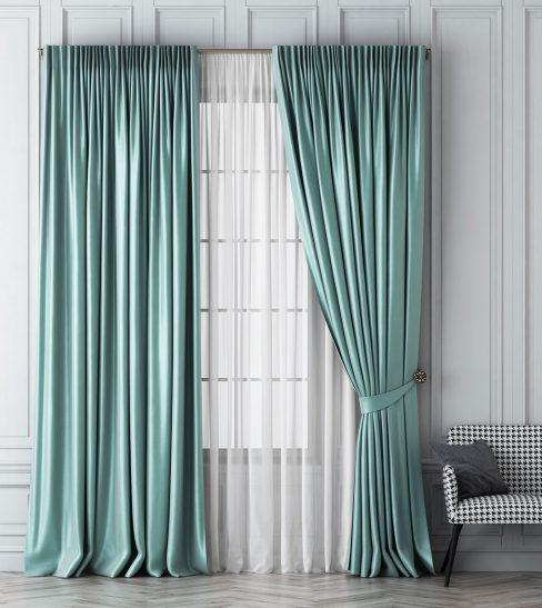 Комплект штор Шанти светло-бирюзовый