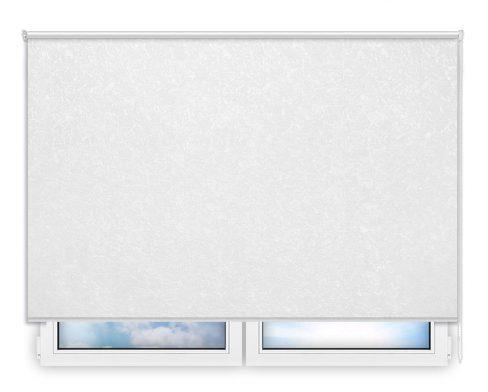 Готовые рулонные шторы Шелк белый