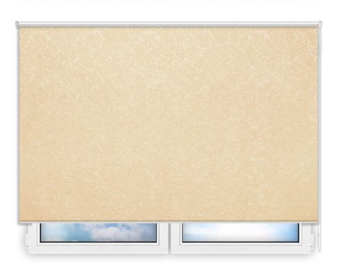 Готовые рулонные шторы Шелк светло-бежевый