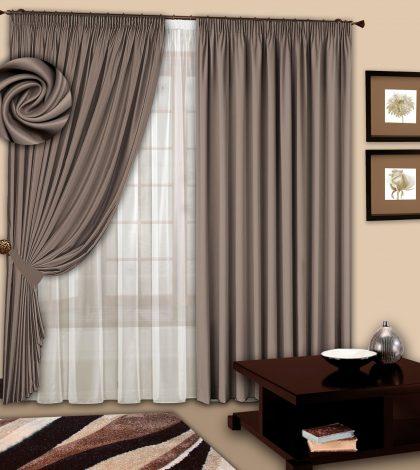 купить комплект шторы и тюль для спальни на распродаже недорого