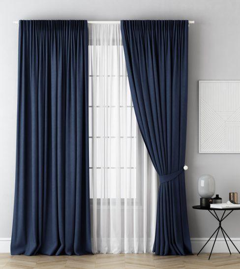 Комплект штор Каспиан синий
