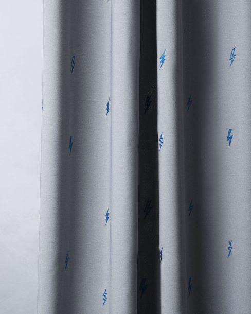 Комплект штор с вышивкой Флэш серый