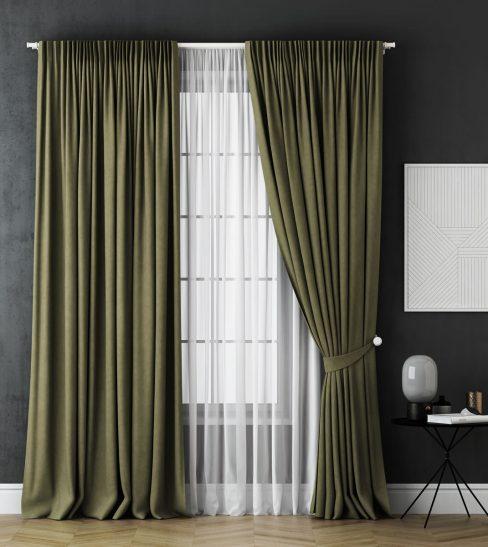 Комплект штор Каспиан зеленый
