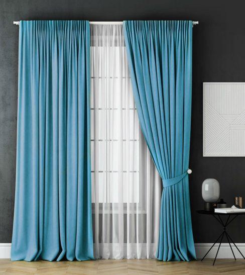 Комплект штор Каспиан голубой
