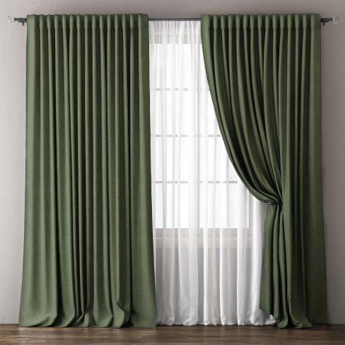Комплект штор Омма зеленый