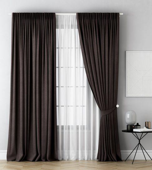 Комплект штор Каспиан коричневый