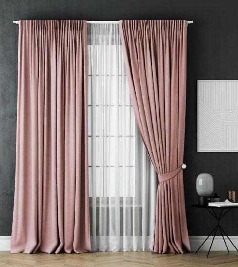Комплект штор Каспиан розовый