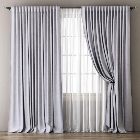 Комплект штор Омма светло-серый
