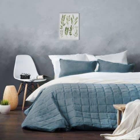 Покрывало на кровать Софт (Латур) голубой