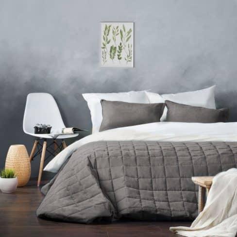 Покрывало на кровать Софт (Латур) серый