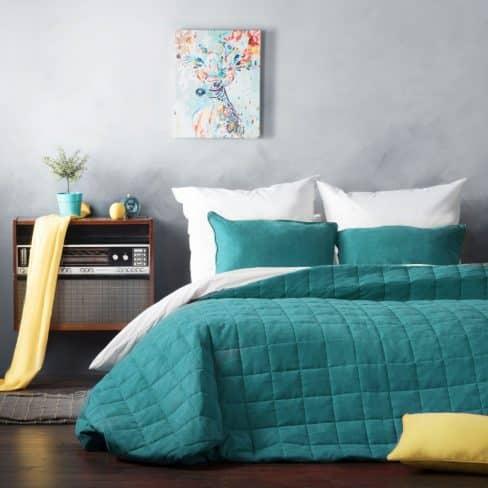 Покрывало на кровать Софт (Латур) бирюзовый
