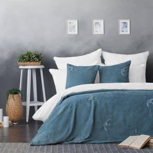 Покрывало на кровать Либерти 160Х220 голубой