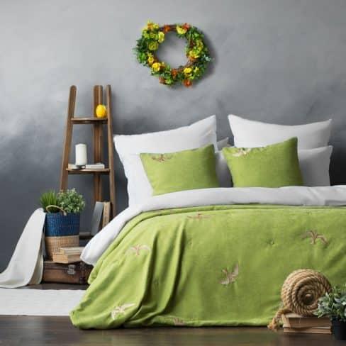 Покрывало на кровать Либерти 160Х220 зеленый