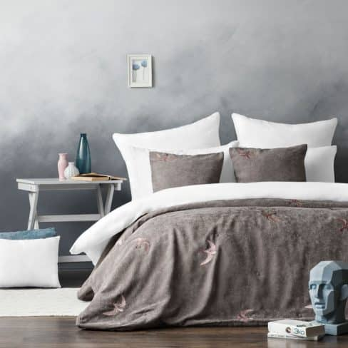 Покрывало на кровать Либерти 160Х220 серый