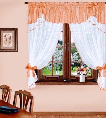 Комплект штор 041 персик-белый