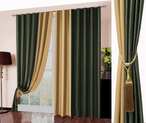 Комплект штор 026 зеленый