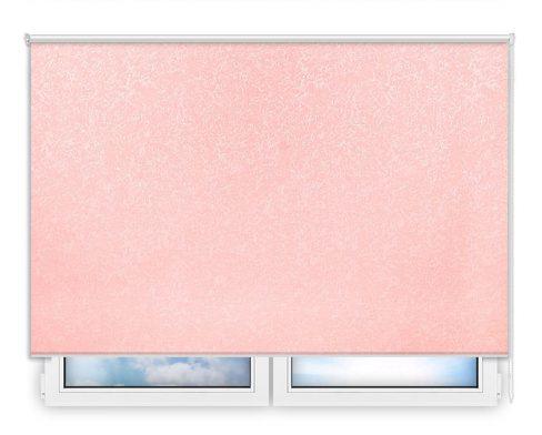 Готовые рулонные шторы Шелк розовый
