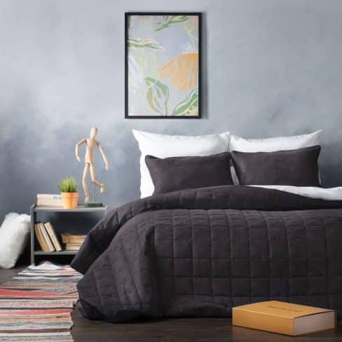 Покрывало на кровать Софт темно-серый