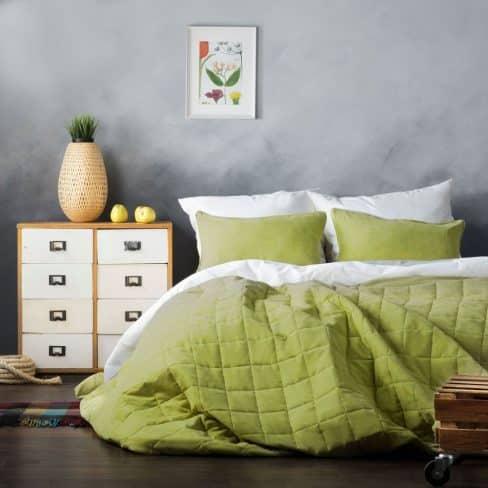 Покрывало на кровать Софт зеленый