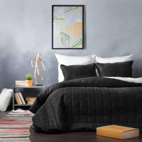 Покрывало на кровать Софт (Латур) черный