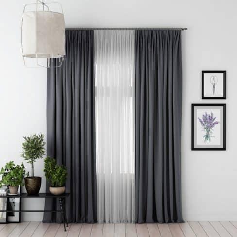 Комплект штор Блэкаут темно-серый
