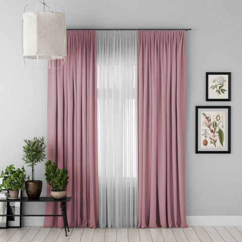 Комплект штор Блэкаут розовый