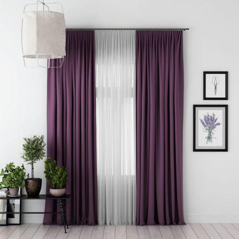 Комплект штор Блэкаут фиолетовый