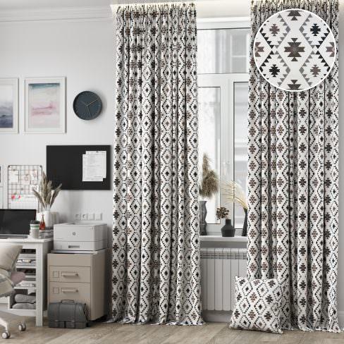 Комплект штор Флоу серый