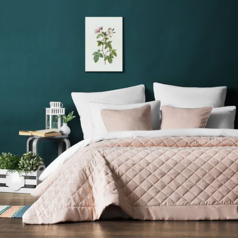 Покрывало на кровать Ким бледно-розовый