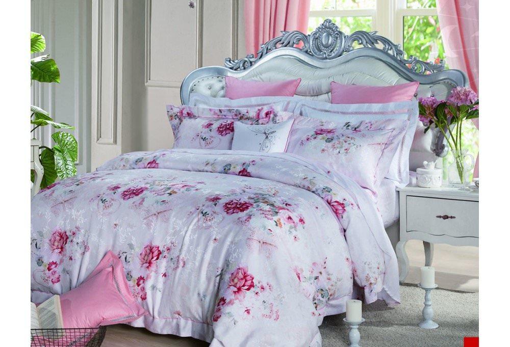 Постельное белье Asabella евро 660-6 постельное белье евро cатин style нав 70х70 или 50х70 в ассортименте