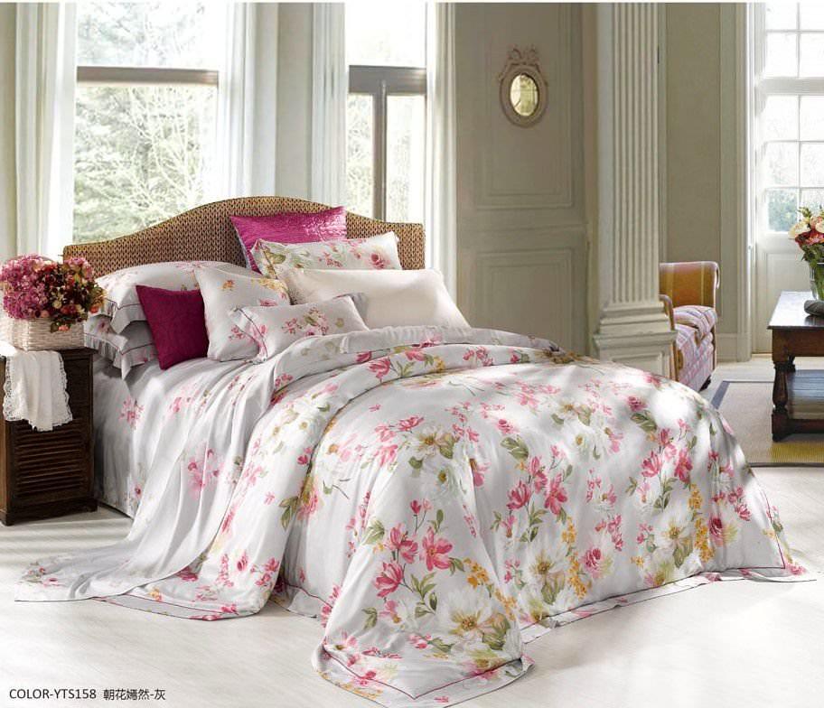 Постельное белье Asabella евро 696-6 постельное белье евро cатин style нав 70х70 или 50х70 в ассортименте