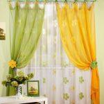Комплект штор с ламбрекеном Ирида (зеленый) | 01-15-01