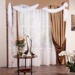 Комплект штор  с ламбрекеном Аура (коричневый) | 01-31-02