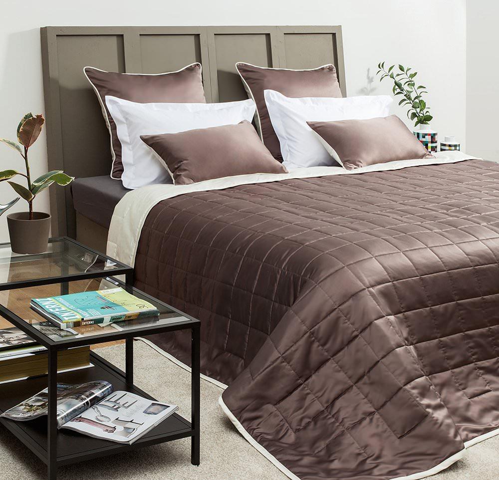 Покрывало на кровать Кидман (коричневый) желтое покрывало на кровать