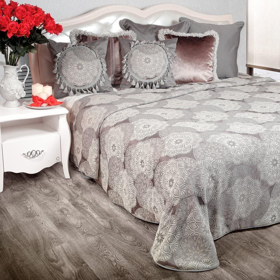 Покрывало на кровать Жаклин (серый) желтое покрывало на кровать