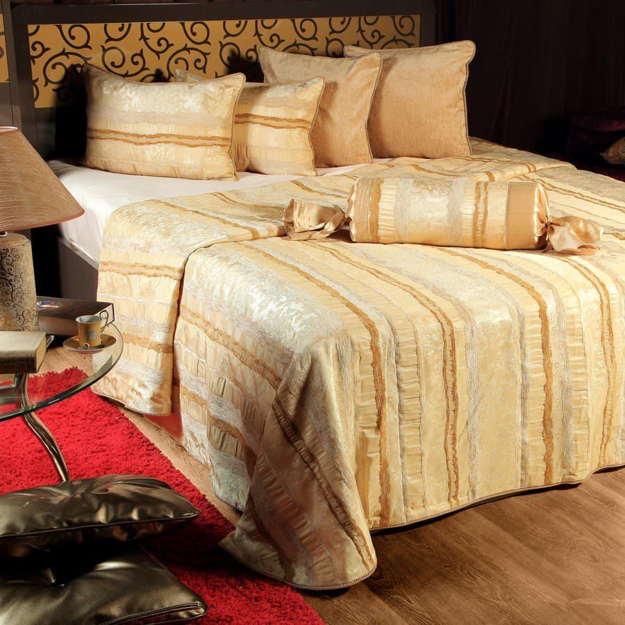 Покрывало на кровать Мадрид (бежевый) желтое покрывало на кровать