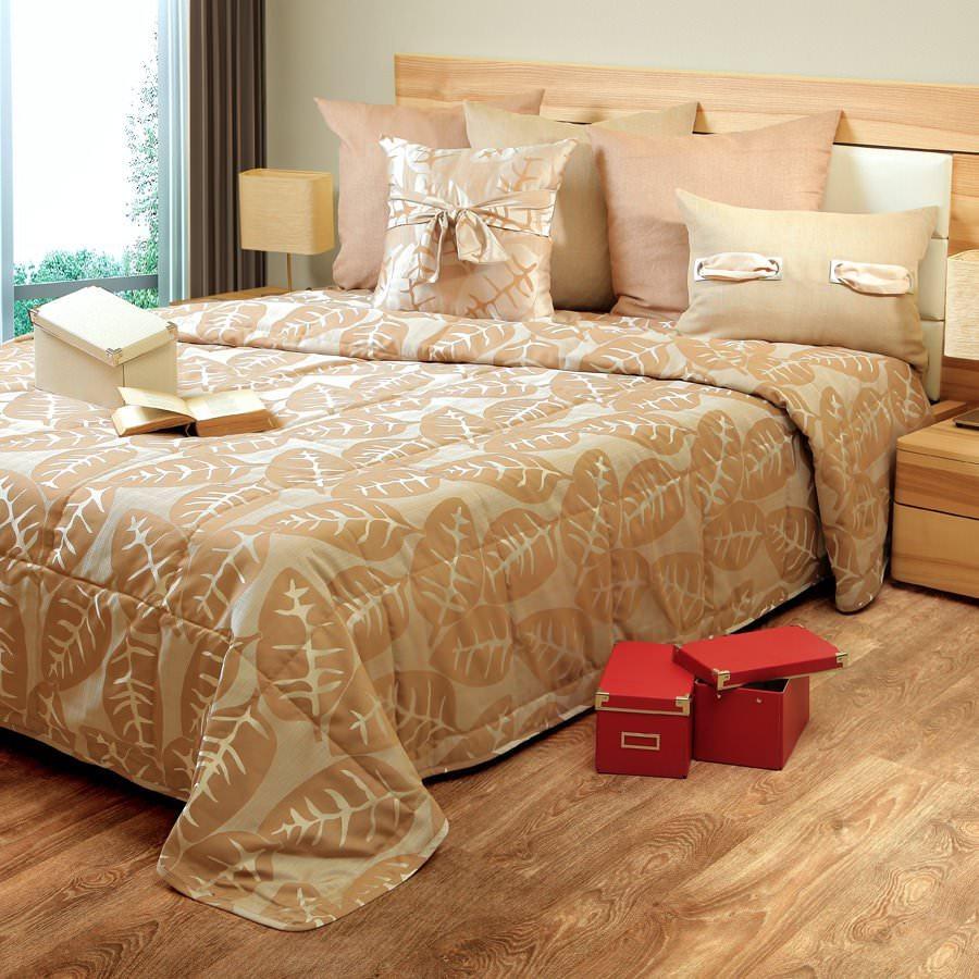 Покрывало на кровать Олимпия (темно-бежевый) желтое покрывало на кровать
