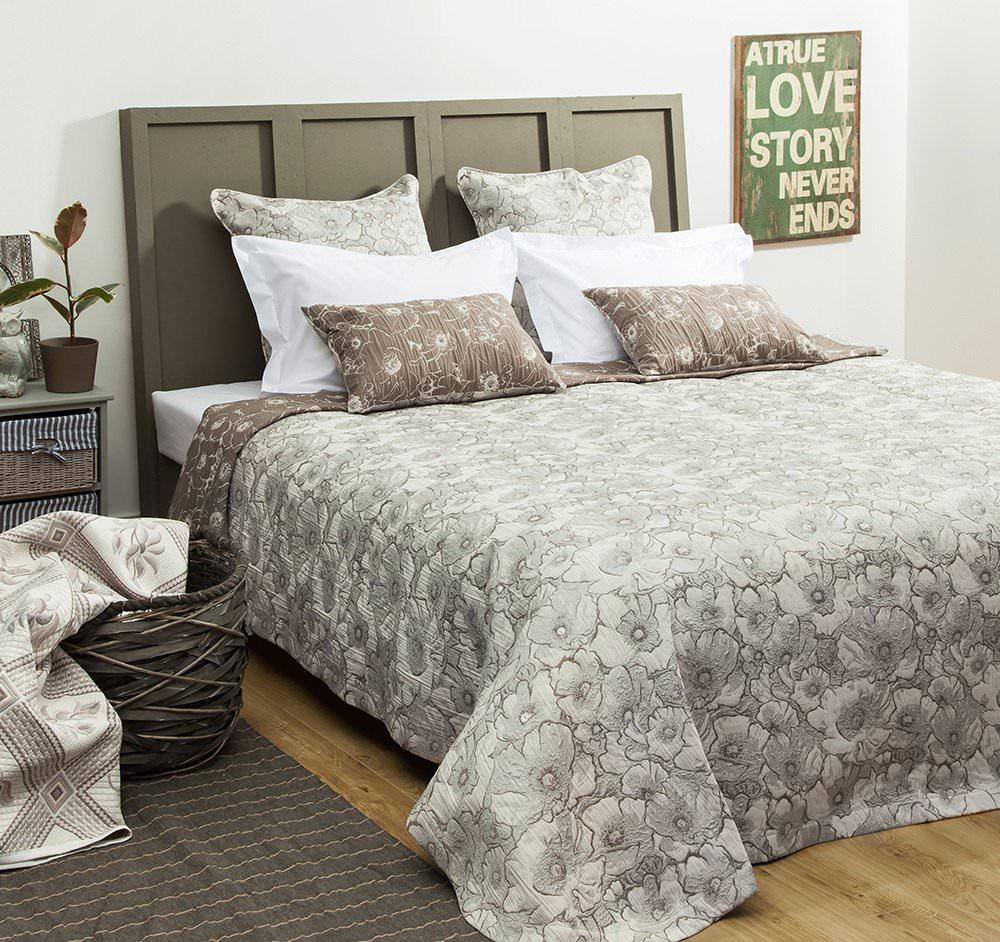 Покрывало на кровать Анита (серый) желтое покрывало на кровать