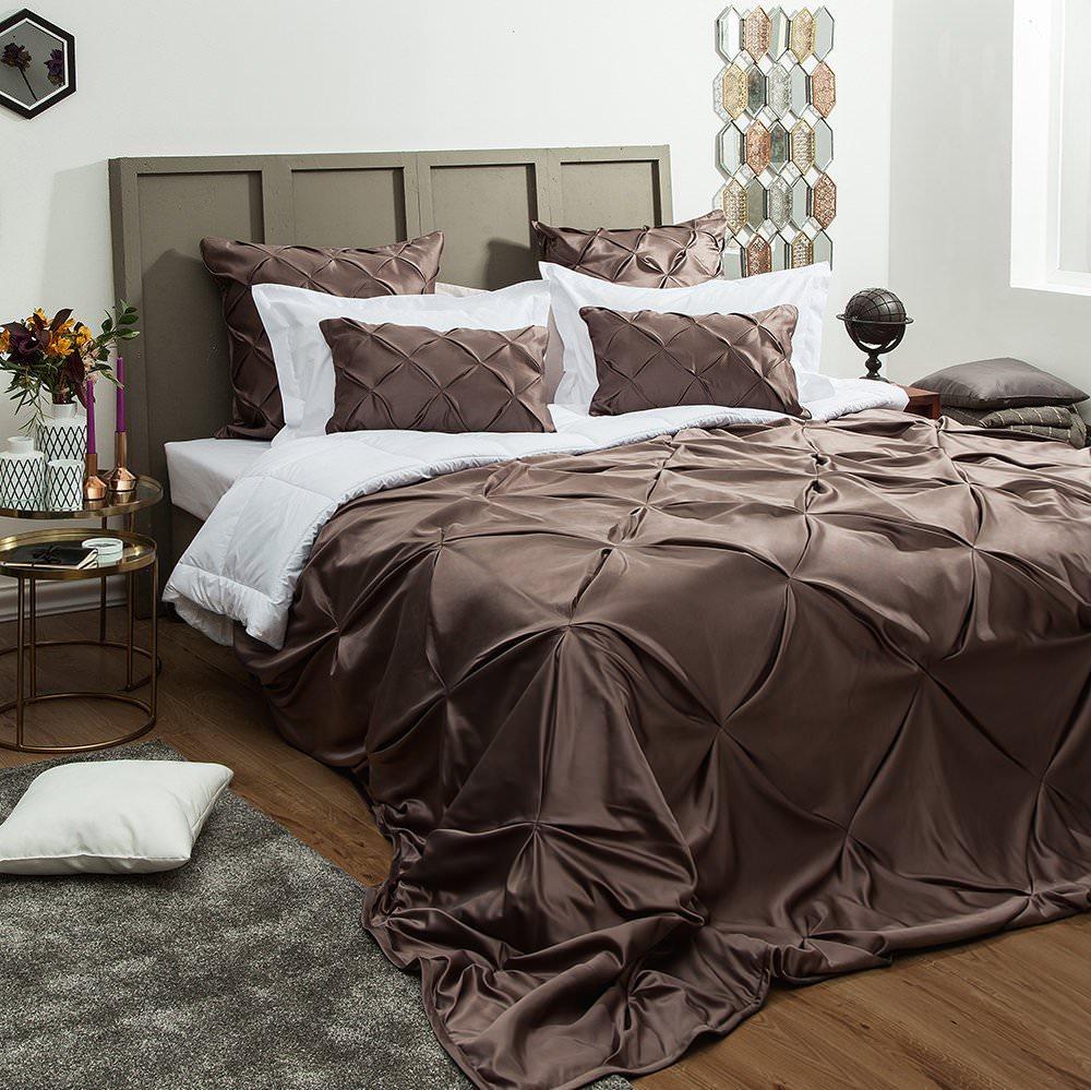 Покрывало на кровать Шанти (серый) желтое покрывало на кровать