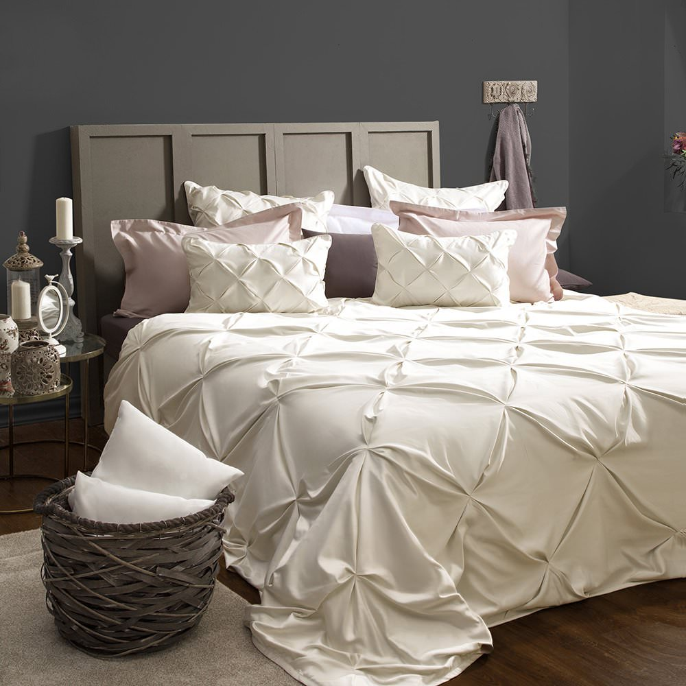 Покрывало на кровать Шанти (сливочный) желтое покрывало на кровать
